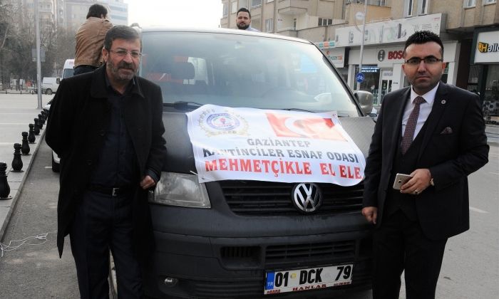 Kantinciler'den Mehmetçiğe destek