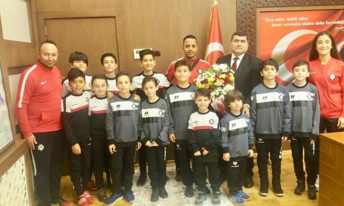 Nizip Altay Spor okulundan Kaymakam Şahin'e ziyaret