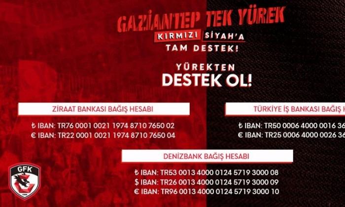Gaziantep Futbol Kulübüne destek ol