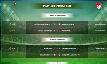 Play-Off'ta program açıklandı