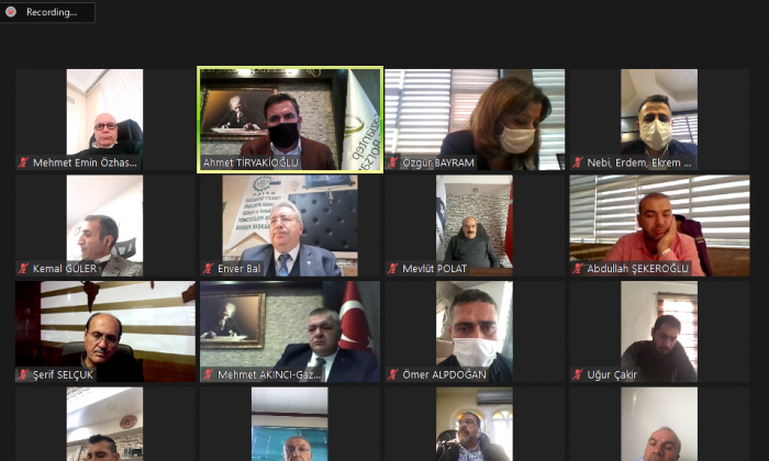 GTB'de Video konferanslı toplantı