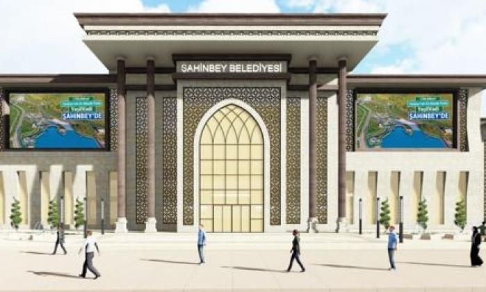 Şahinbey Kongre Merkezi hızla yükseliyor