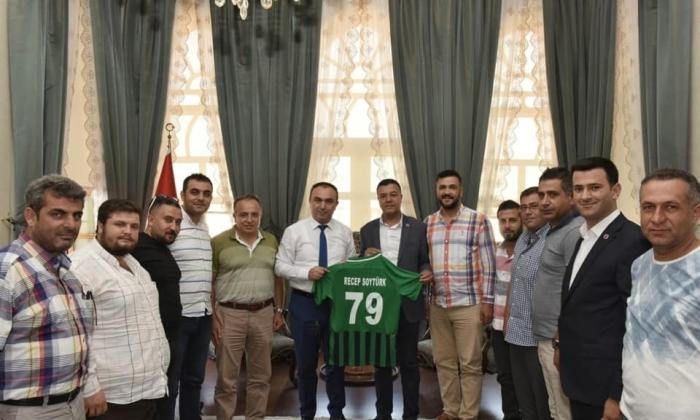 Kilis Belediyespor'dan Vali Soytürk'e ziyaret