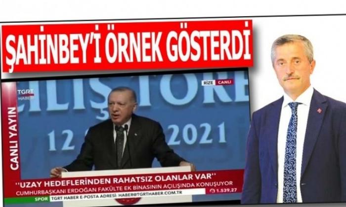 Cumhurbaşkanı'ndan Tahmazoğlu'na övgüler
